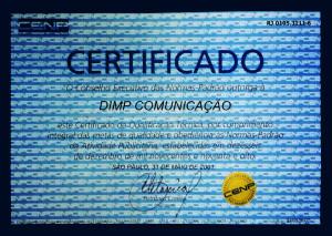 Certificado do CENP