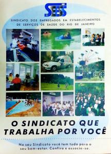 Jornal para o Sindicato dos Empregados em Estabelecimentos de Saúde do RJ