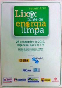 Organização e material de divulgação para Seminário promovido pelo jornal O DIA